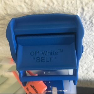 Off White Rubber Industrial Belt Brand New